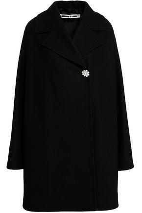 McQ Alexander McQueen Embellished wool-blend felt coat
