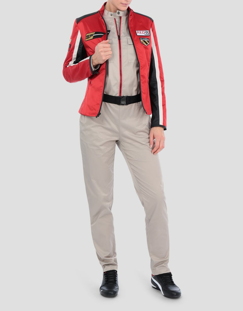 Scuderia Ferrari Online Store - Everywhere Red women's nylon biker jacket - Bombers & Track Jackets