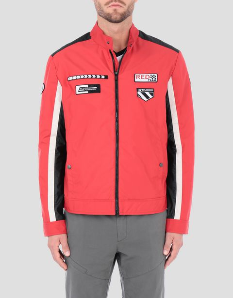 Men's Everywhere Red nylon biker jacket