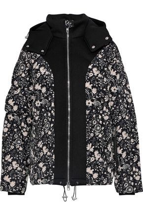 ANTIK BATIK Blanche neoprene-paneled floral-print shell hooded coat