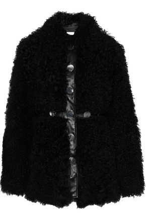 ANTIK BATIK Yanis studded leather-trimmed shearling jacket