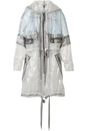 MARC JACOBS Paneled coated-organza hooded jacket
