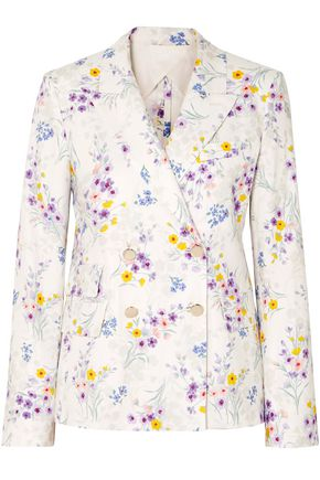 WEEKEND MAX MARA Libia double-breasted floral-print linen blazer