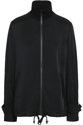A.L.C. Monico bead-embellished sateen turtleneck jacket