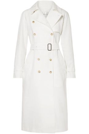 MAX MARA Double-breasted linen trench coat
