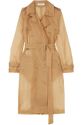 MAX MARA Double-breasted silk-organza trench coat