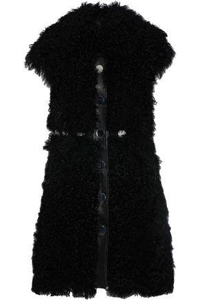 ANTIK BATIK Leather-trimmed shearling vest