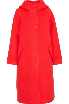 GOEN.J Wool-blend felt hooded coat