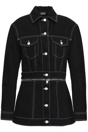 ALEXANDER MCQUEEN Zip-embellished cotton-denim jacket