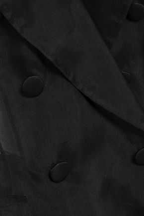 DOLCE & GABBANA Double-breasted silk-organza blazer