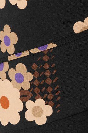 MIU MIU Floral-print wool-blend coat