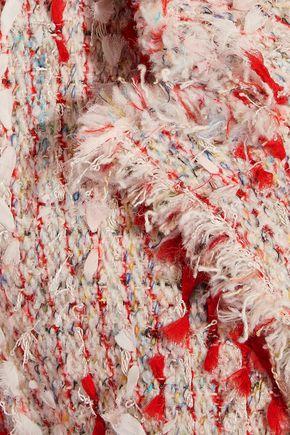 ALEXANDER MCQUEEN Frayed bouclé-tweed coat