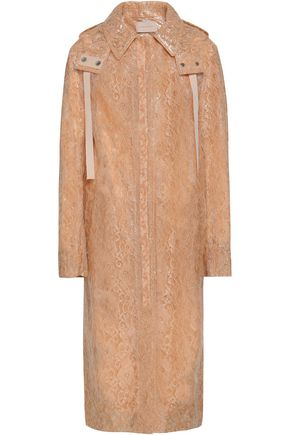 CHRISTOPHER KANE Waxed lace hooded raincoat