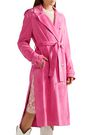 CALVIN KLEIN 205W39NYC Suede trench coat