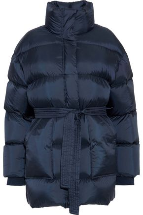 GOEN.J Tie-front quilted shell coat