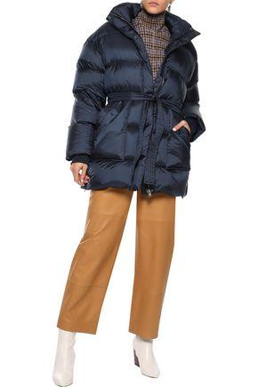 GOEN.J Tie-front quilted shell coat