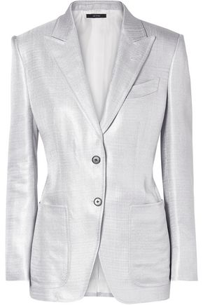 TOM FORD Metallic woven blazer