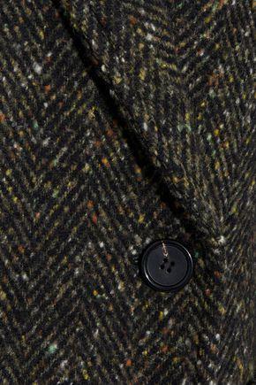 GOEN.J Double-breasted herringbone wool coat