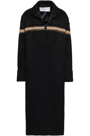 AMANDA WAKELEY Jacquard wool-blend coat