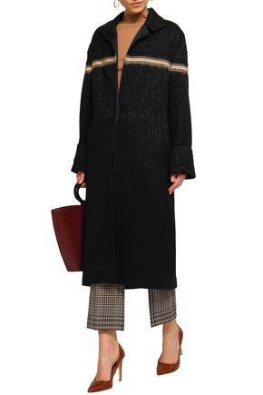 AMANDA WAKELEY Jacquard wool-blend coat