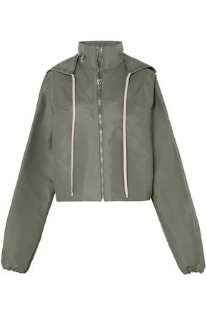 Cropped Shell Hooded Jacket by Rick Owens