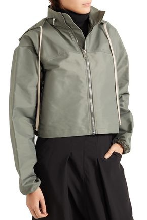 RICK OWENS Cropped shell hooded jacket