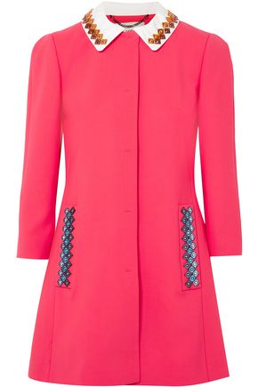 MARY KATRANTZOU Mason embellished stretch-wool jacket