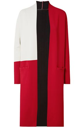HAIDER ACKERMANN Open-front color-block stretch-knit cardigan