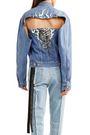 BEN TAVERNITI™ UNRAVEL PROJECT Cutout printed denim jacket