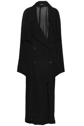 ANN DEMEULEMEESTER Double-breasted georgette trench coat