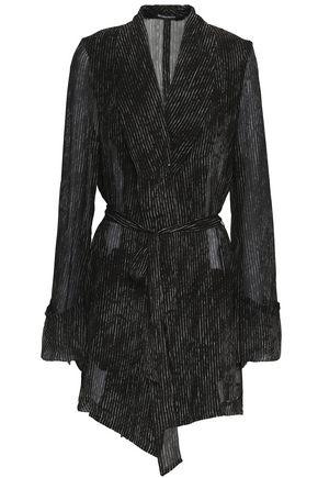 ANN DEMEULEMEESTER Striped silk-georgette jacket
