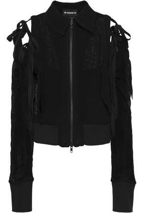 ANN DEMEULEMEESTER Convertible open-knit bomber jacket