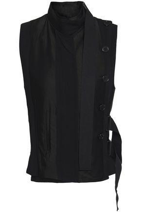 ANN DEMEULEMEESTER Grosgrain-trimmed jacquard vest