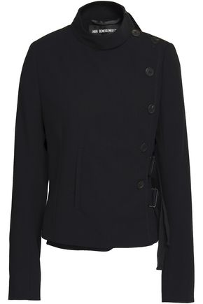 ANN DEMEULEMEESTER Double-breasted wool-twill jacket