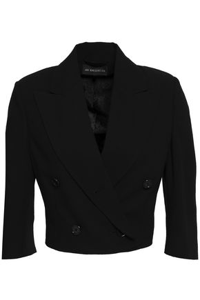 ANN DEMEULEMEESTER Gilligan cropped double-breasted wool-twill jacket