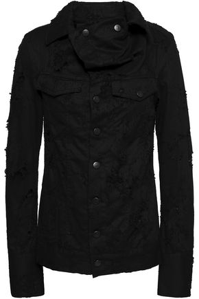 ANN DEMEULEMEESTER Norwood distressed denim jacket