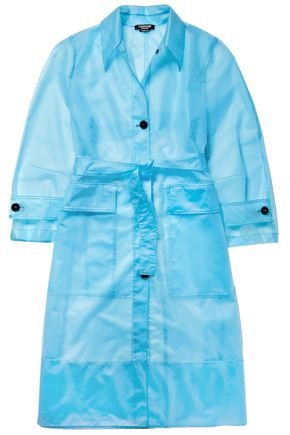 CALVIN KLEIN 205W39NYC Belted plastic raincoat
