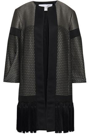 AMANDA WAKELEY Tasseled satin-trimmed jacquard jacket