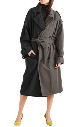 VETEMENTS Reversible two-tone woven trench coat