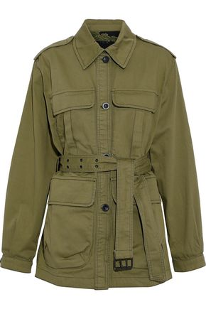 M.I.H JEANS Lang belted cotton-twill jacket