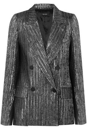 ISABEL MARANT Denel double-breasted textured-lamé blazer