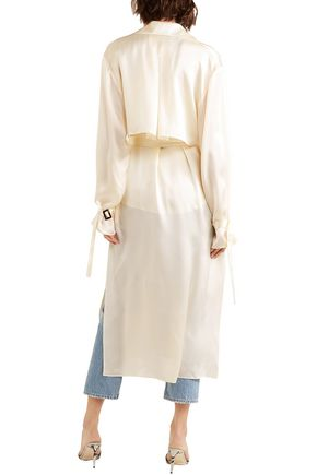 MAGDA BUTRYM Double-breasted silk trench coat