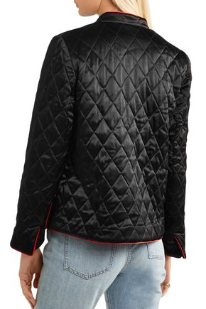GANNI Pation quilted satin jacket