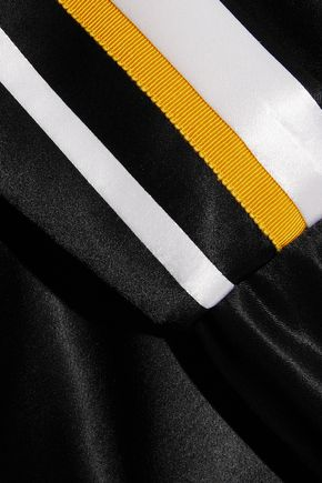 VICTORIA, VICTORIA BECKHAM Striped satin jacket