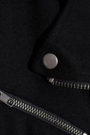 REBECCA MINKOFF Wool-blend biker jacket