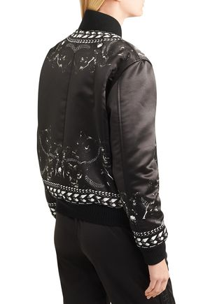 132f913d9 Panther printed duchesse-satin bomber jacket | GIVENCHY | Sale up to ...