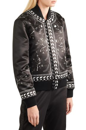 GIVENCHY Panther printed duchesse-satin bomber jacket