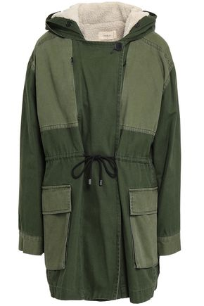 BA&SH Paolo paneled canvas hooded jacket