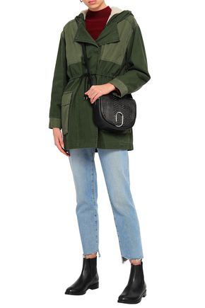 BA&SH Paolo paneled canvas hooded jacket