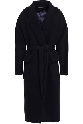 BA&SH Marc double-breasted wool-blend felt coat